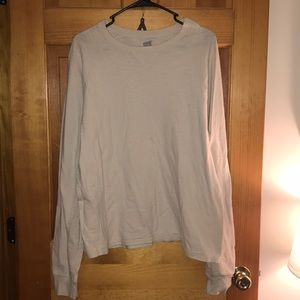 Cream long sleeve shirt